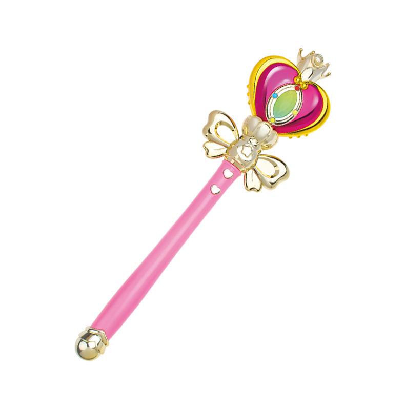 Аниме косплей Сейлор Мун Tsukino палочка хеншин стержень светящаяся палочка спиральное сердце лунный жезл музыкальная волшебная палочка игрушки для девочек - Цвет: Черный