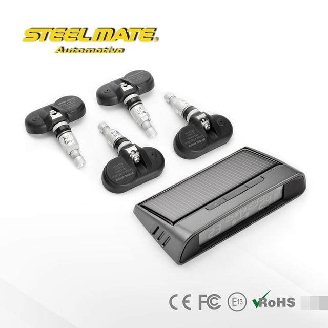 Steelmate DIY TP-S1I Небольшой Солнечной Энергии Система Контроля Давления в Шинах, ЖК-Дисплей TPMS, внутренние датчики