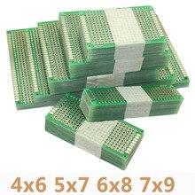4 unids/lote 4x6 5x7 6x8 7x9 prototipo de doble cara PCB placa de circuito Universal impresa Protoboard para Arduino