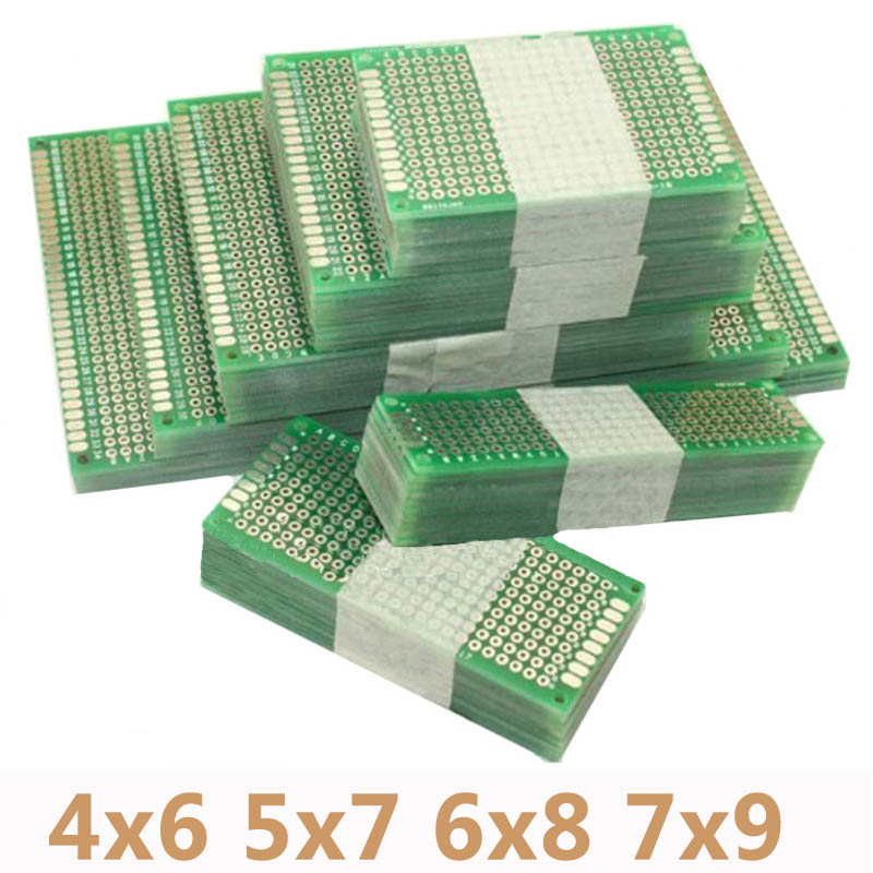 4pcs/lot 4x6 5x7 6x8 7x9 Double Side Prototype <font><b>PCB</b></font> Universal Printed Circuit Board Protoboard For Arduino image
