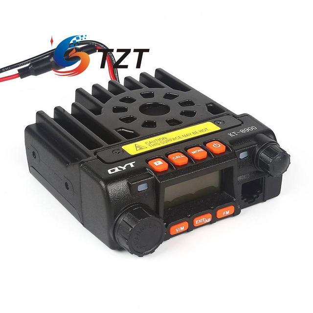 QYT KT8900 Walkie Talkie Трансивер УФ 136-174 МГц 400-480 МГц Двухдиапазонный Мобильный Fm-радио Черный