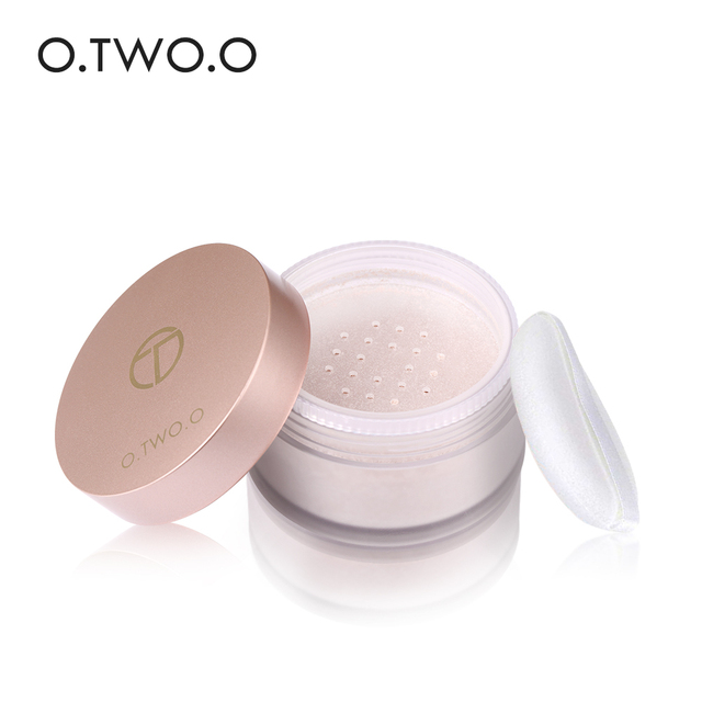 O.TWO.O Smooth Loose Powder Matt Makeup Transparent Finishing Powder Waterproof Cosmetic Puff For Face Finish Setting With Puff 2