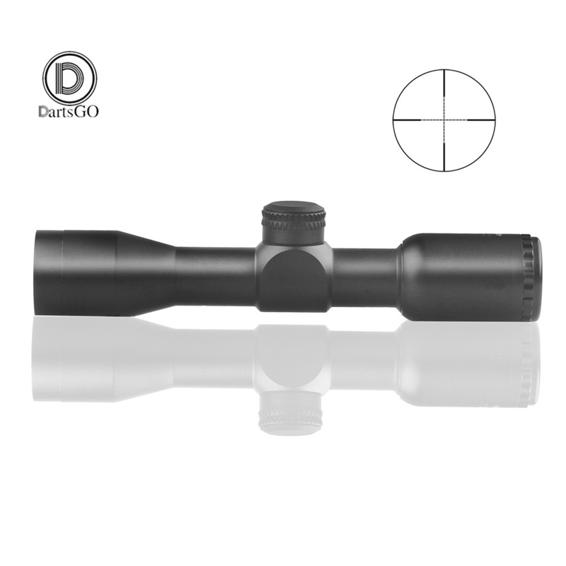 DDartsGO Free shipping Hunting Tactical 4X32 Rifle Optics Sniper Scope Mil Dot Illuminated Reticle One piece Tube Sight-in Riflescopes from Sports & Entertainment