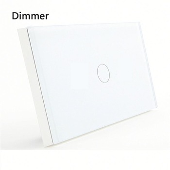 цена на Bseed 240v Touch Light Switch 1 Gang 1 Way Touch Switch Dimmer With Glass Panel White Touch Dimmer Us Au Eu Uk