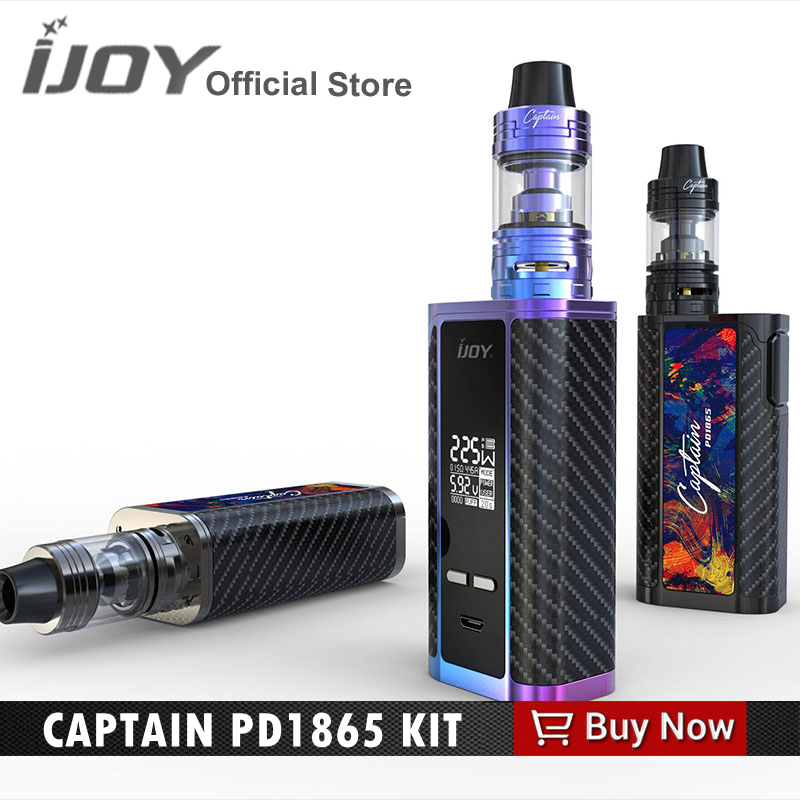 Original ijoy captain pd1865 kit with IJOY Captain S subohm tank fit 18650 battery box mod 18650 vape kit original 225w ijoy captain tc kit 2 6ml rdta 5s atomizer tank w ijoy captain pd1865 box mod kit no 18650 battery vs alien