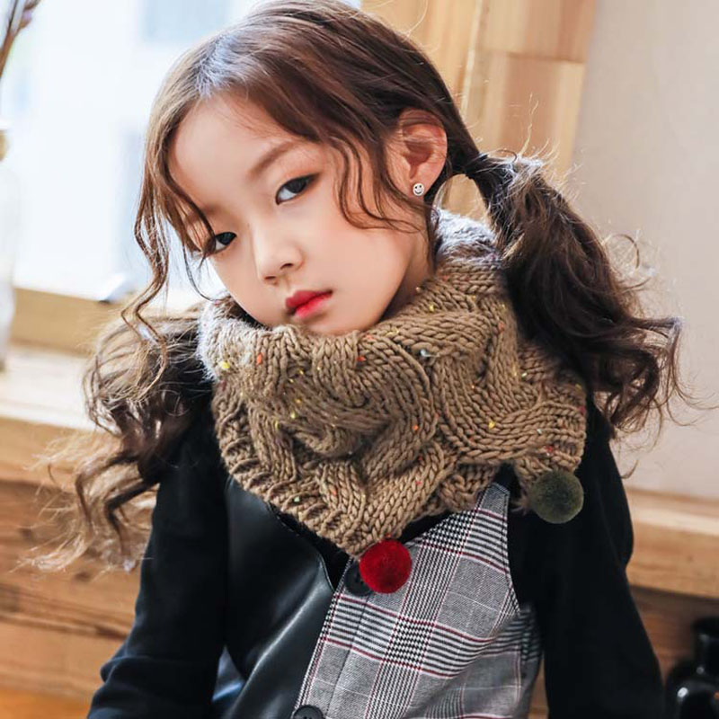 1pc Baby Cotton Scarf Fashion Autumn Winter Cute Baby Warm Boys Girls Children Stars Collar Scarf Children Neck Scarves Beautiful And Charming Apparel Accessories