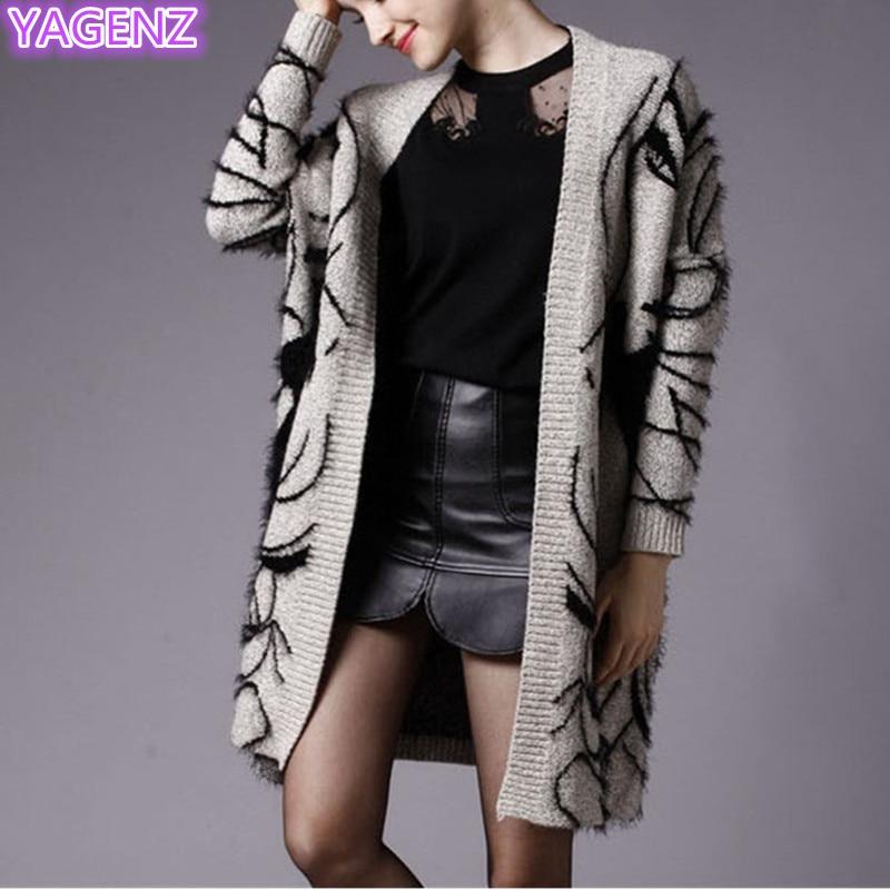YAGENZ Frauen Lose Große größe Pullover Herbst Strickpullover - Damenbekleidung - Foto 5
