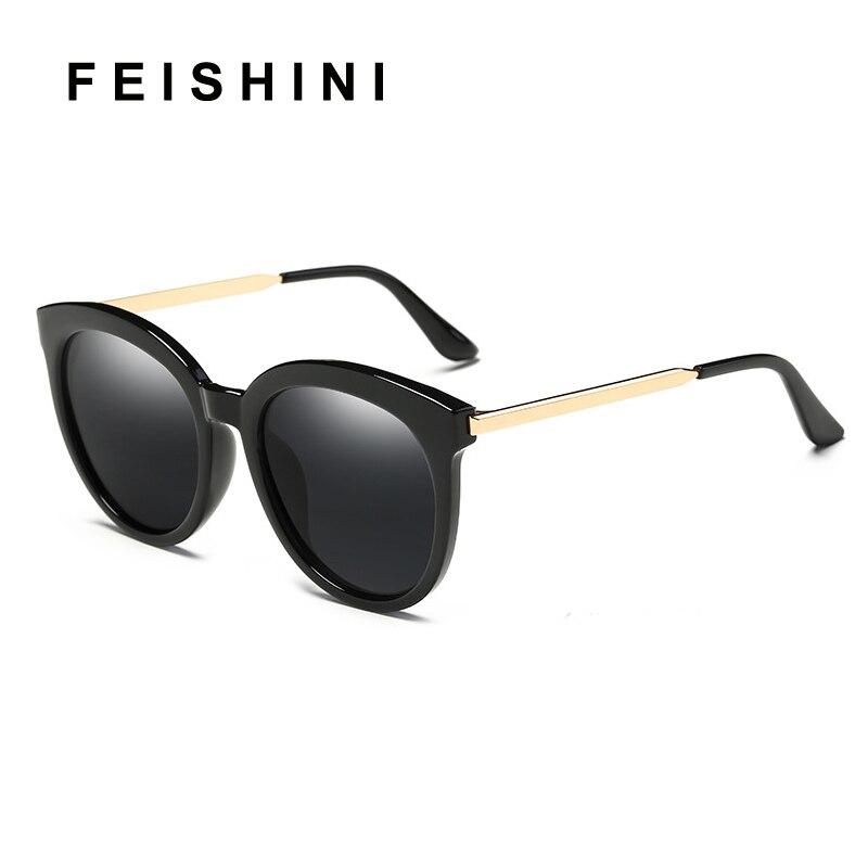 FEISHINI Brand White Frame Oval Polarized Sunglasses Women Fashion UV Protector HD Lens Driving korea Glasses Female Mirror PINK in Women 39 s Sunglasses from Apparel Accessories