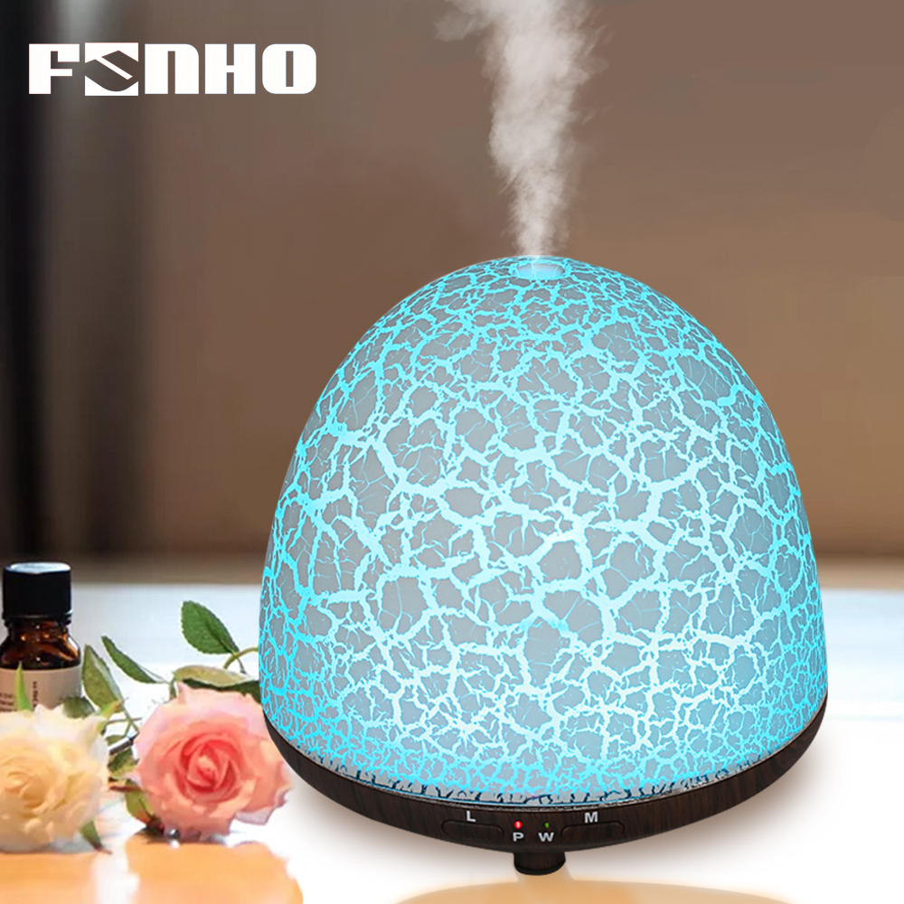 FUNHO Ultrasonic Aroma Humidifier Air Fogger LED Night Lights Mist Maker Smart Essential Oil Diffuser Aromatherapy For Home1710C цена и фото