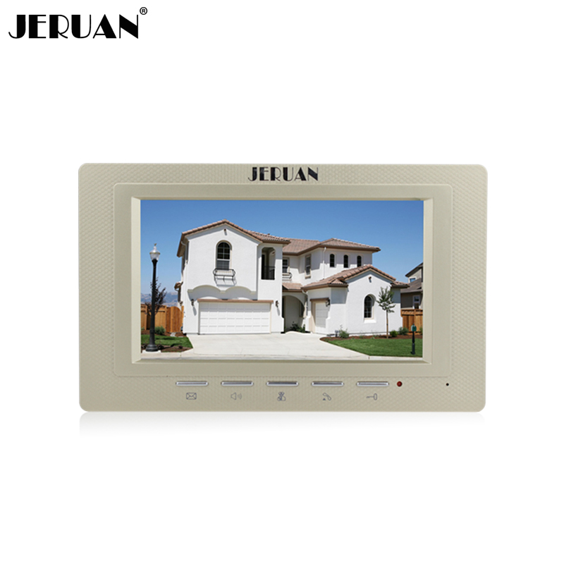 JERUAN FREE SHIPPING 7`` Full color LCD video door phone  doorbell video door phone intercom system 721G monitor + Power Adapter free shipping 600x 4 3 lcd display microscope zoom portable led video microscope with aluminum stand for pcb phone repair bga