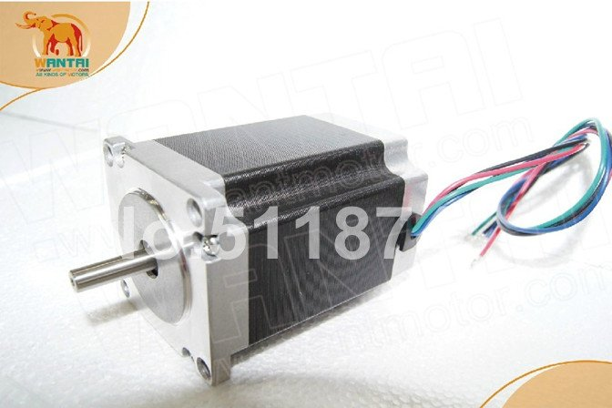 цена на Hot Sale! Wantai 4-lead Nema23 Stepper Motor 57BYGH627 270oz-in 76mm 3.0A CE ISO ROHS CNC Router Grind Foam Mill Laser Printer