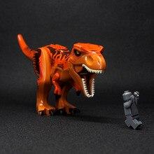 Cidade Bloco Super Blocos de Tijolos para Construção de brinquedos Figuras de Mini Dinossauro do Jurássico Tiranossauro rex