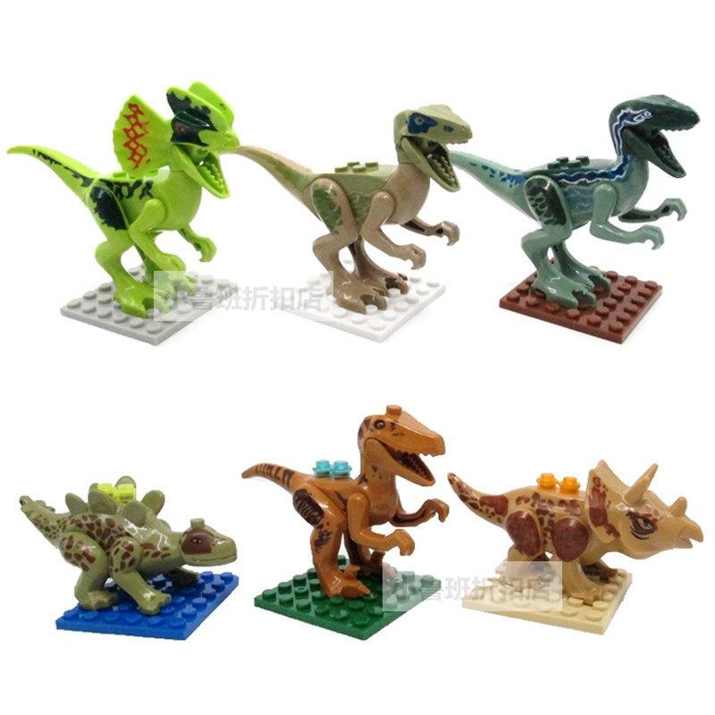 6pcs Jurassic World Park Movie Dinosaurs Tyrannosaurus Rex