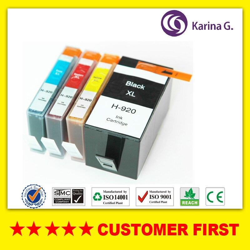 24591d0a55 4X cartucho de tinta compatible para HP920 HP 920 traje para HP OfficeJet  6000 Officejet 6500 impresora