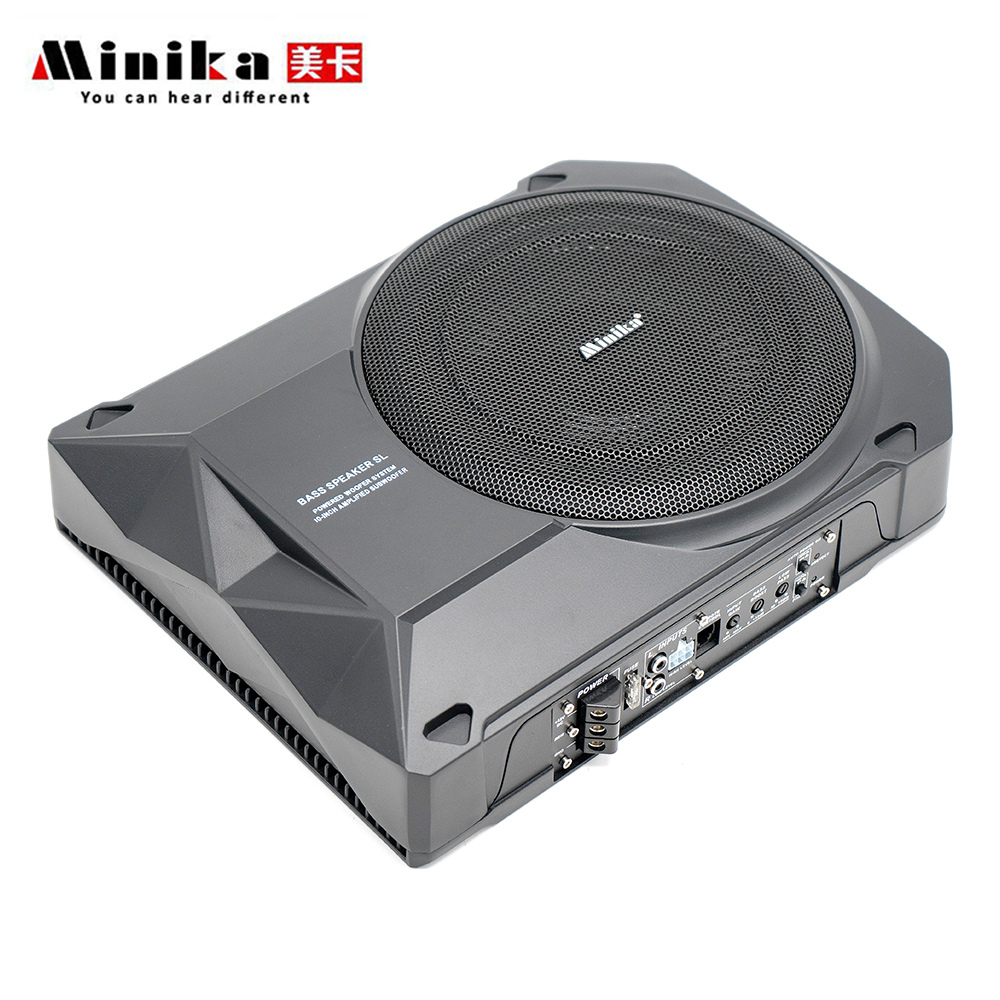 Car Audio System >> Us 102 92 17 Off 10 Inch Active Subwoofer Car Audio Speakers And Subwoofer Amplifier Car Speaker Bass Under Seat Subwoofers Auto Car Audio System In