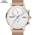 GUANQIN мужские часы Топ бренд класса люкс Хронограф сетка ремешок часы Аналоговые светящиеся стрелки часы водонепроницаемые кварцевые наруч...