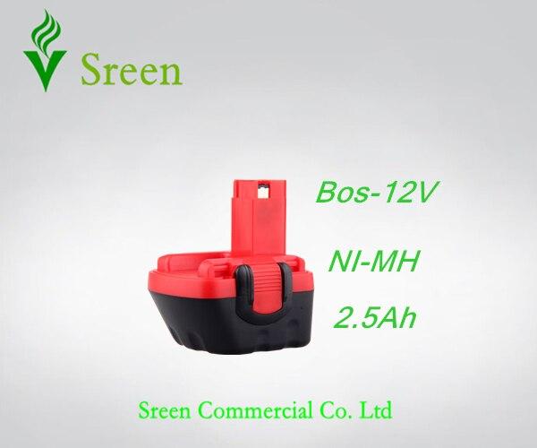 Новые Запчасти 12 В 2.5Ah NI-MH Аккумуляторные Батареи Электроинструмент Замена для Bosch BAT043 BAT045 BAT046 BAT139 BAT049 2 607 335 261