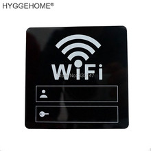 10cm WIFI Sign 3D Acrylic Mirror Wall Stickers Rewritable Account and Password For Public Shope WIFI Signage(China)