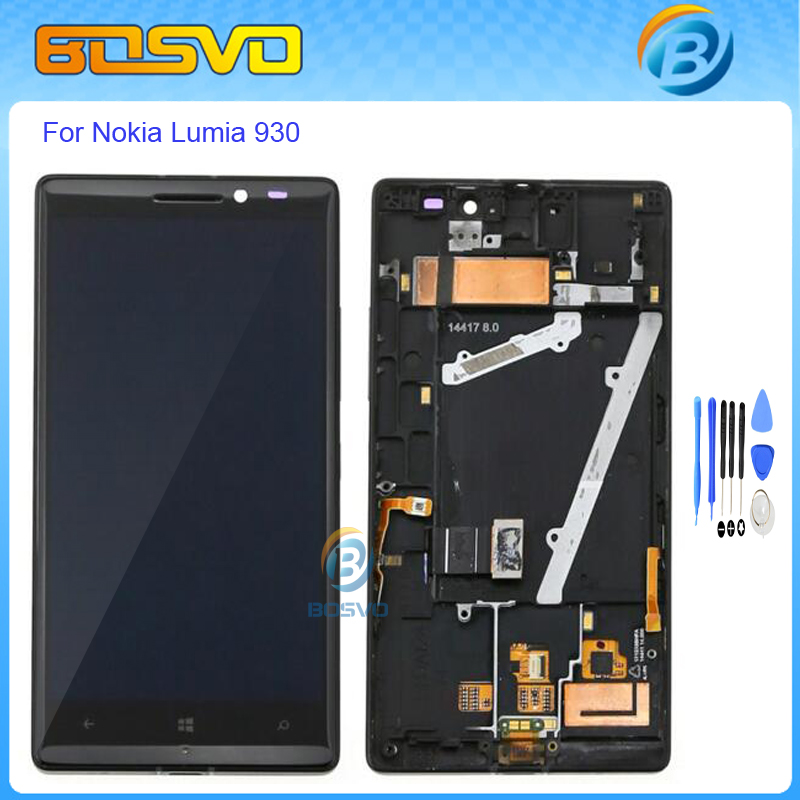 Подробнее о High quality Replacement for Nokia lumia 930 lcd display with touch screen digitizer with frame assembly+free tools black color replacement repair part 5 inch for nokia lumia 930 lcd display with touch screen digitizer 1 piece free shipping