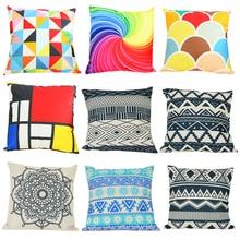 Cecil Modern Simple Cotton Linen Back Cushion Geometric Decorative Pillowcase Home Decor Sofa Throw Pillow 45x45cm