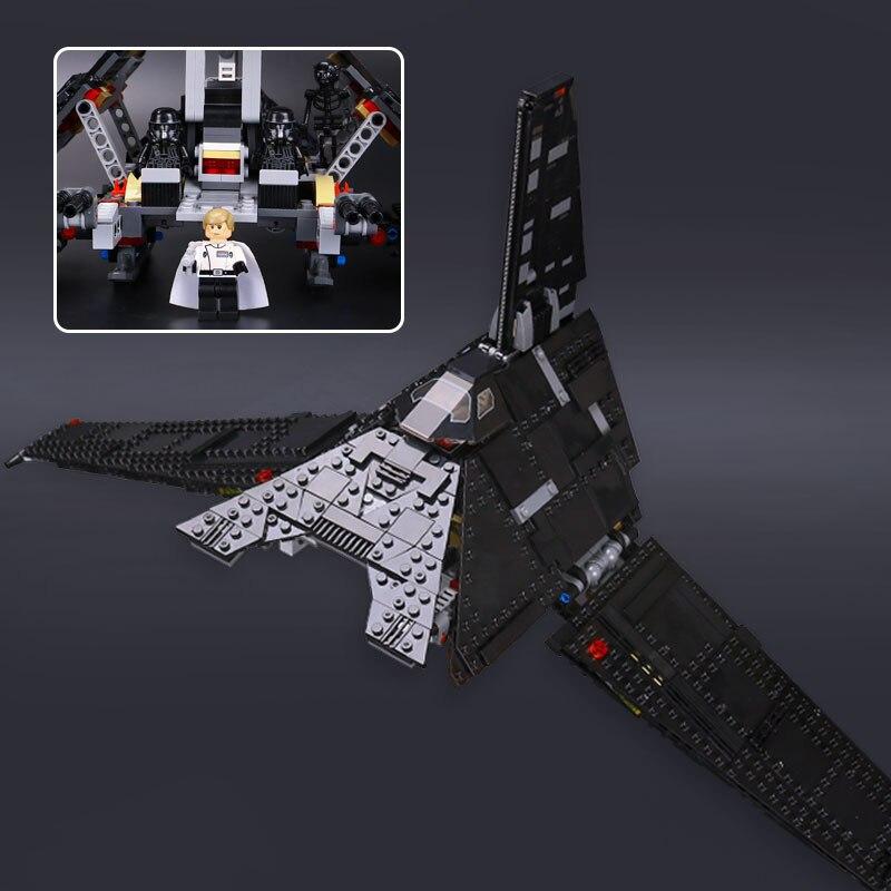Oyuncaklar ve Hobi Ürünleri'ten Bloklar'de 05049 Yıldız Krennics Emperyal Mekik Modeli Ile Uyumlu 75156 Yapı Taşı Savaşları Uzay Oyuncaklar Çocuklar için Çocuk Hediyeler'da  Grup 1