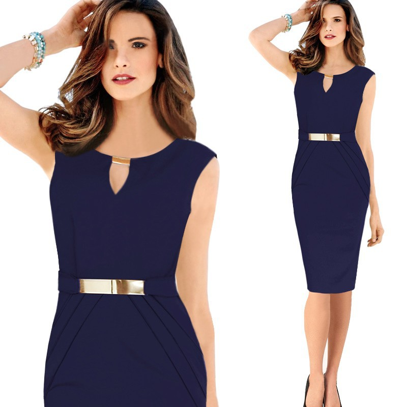 Fashion Women 14 Gown Empire Waist Knee-Length Sequined Elegant Casual Bodycon Pencil Evening Party Dresses Plus Size S-XXL 13