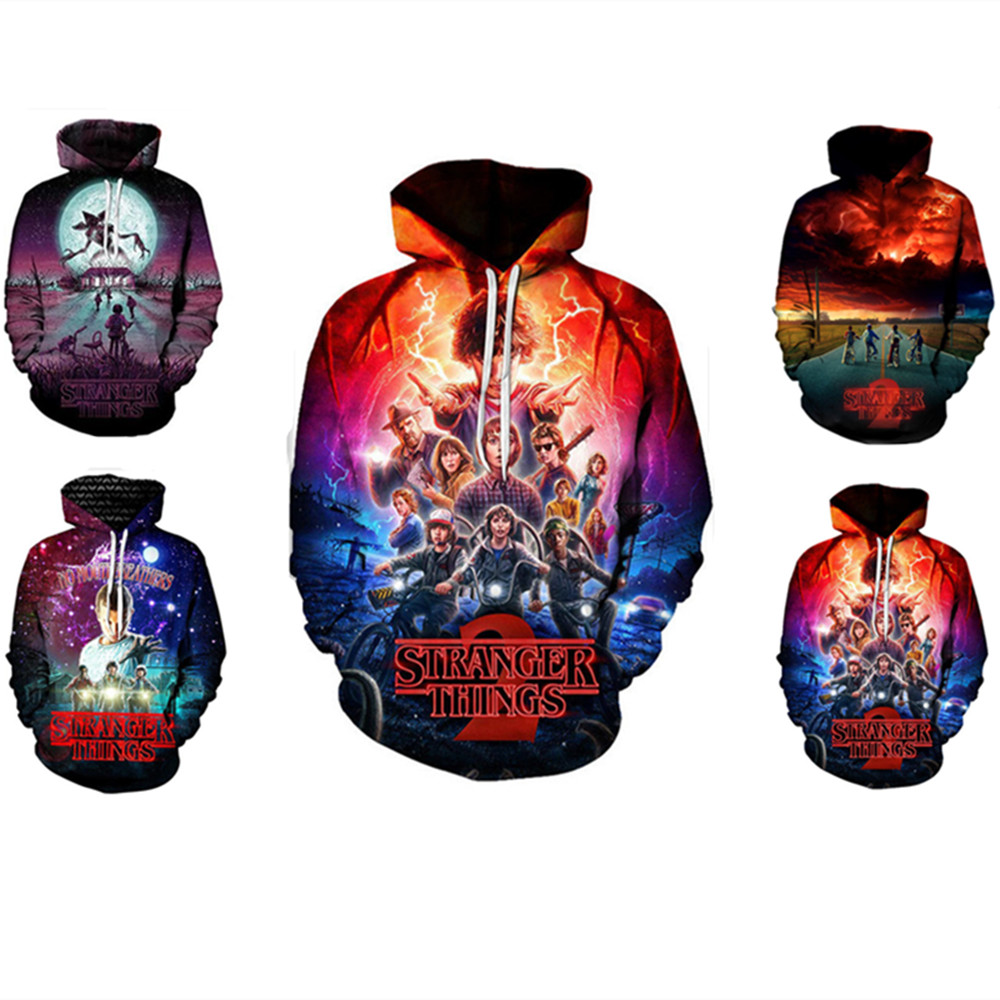 Stranger Things New 3D Hoodies Men/Women Pullovers Sweatshirts Cool Upside Down Eleven Print Male Hooded Tracksuits Hoodie