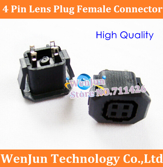 Free Shipping NEW Camera Auto Iris Lens Socekt 4pin 4 Pin Lens Plug Female Connector 4p Adapter High Quality