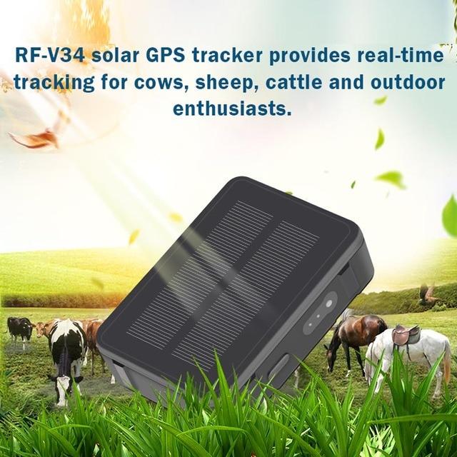 Ovelhas Vaca Gado RF-V34 9000 mah de Energia Solar GPS Tracker GSM GPS De Rastreamento Wi-fi À Prova D' Água monitoramento Voz Anti-remove alarme SOS