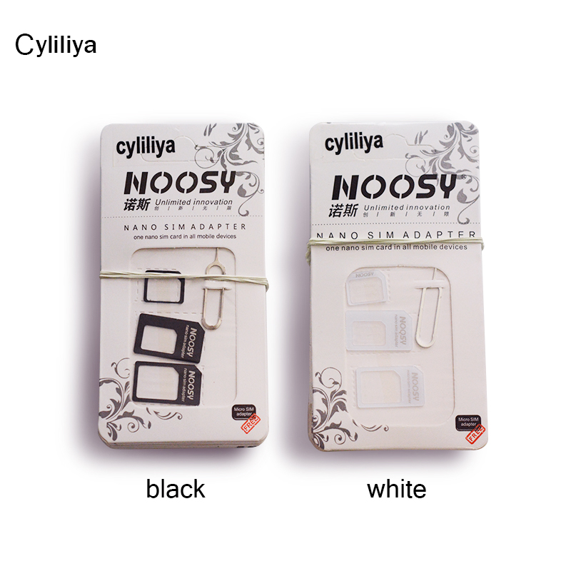 good qty 4in1 Noosy Nano Sim Card Adapter Micro Sim cards adapter Standard SIM Card Adapter