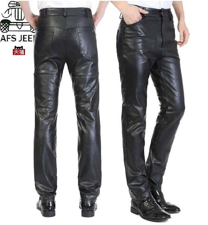 29 39 новые мужские брюки размера плюс, мужские Брендовые брюки из натуральной кожи, кожаные брюки из овчины, утолщенные прямые кожаные брюки