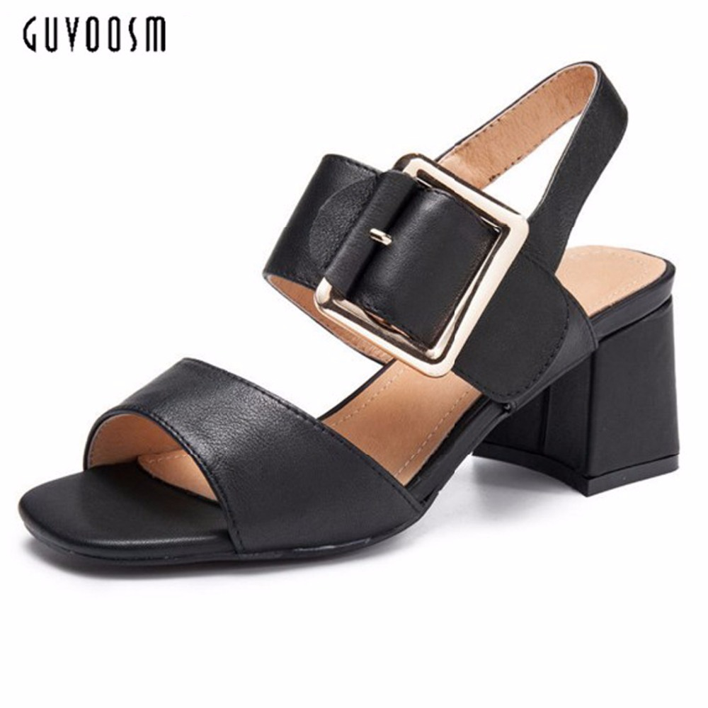 2017 New Fashion Summer Solid Sewing Wedges Platform Women Gladiator High Heel Sandals Female Shoes Woman Buckle Round Toe 2017 summer shoes woman platform sandals women soft leather casual open toe gladiator wedges women shoes zapatos mujer