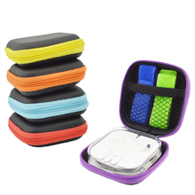 HOTNOW Hard Shockproof Portable EVA Storage Bags for Cellphone USB Chargers Data Cables External Battery Carrying Bags