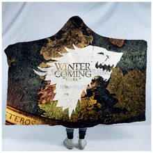 Plstar Cosmos Game of Thrones Blanket Hooded 3D full print Wearable Adults men women style2