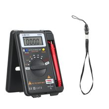 VC921 Mini Collapsible Digital Multimeter ESR Meter Transistor Tester Voltmeter 4000 Counts Handheld Multi with Probes