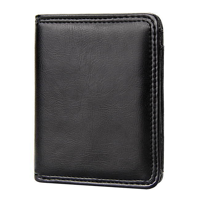 Vintage Small Men's Short Wallets Bifold Slim Card Holders for Men Casual Coin Purse Pu Leather Business Credit Card Case Man
