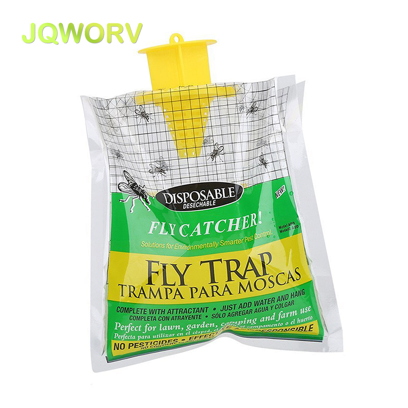 JQWORV Fly Catcher Mosquito Killer Disposable Insect Trap Hanging Style Pest Control Indoor Outdoor Non-toxic 1pc