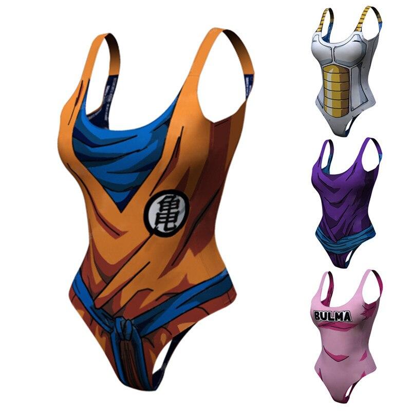 Japanese Bodysuit Swimsuit Anime Dragon Ball Cosplay Costume Goku Buu Vetata Piccolo Swimwear
