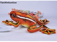 large 42cm simulation frog plush toy,red frog soft doll creative pillow birthday gift h2104