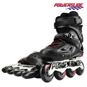 Image 2 - 100% Original 2018 Powerslide Imperial Inline Skates 전문 슬라럼 인라인 스케이트 롤러 무료 스케이트 신발 슬라이딩 Patines