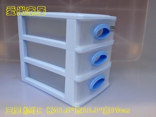 Transparent en plastique bureau boîte de rangement de bureau petit