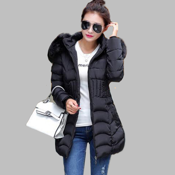 L-4XL Fashion Women's Jacket Winter Coat Women Long Thickening Padded Jackets Down & Parkas Plus Size A Coat With A Hood E0557 l 3xl winter jacket women s 2016 plus size slim down cotton padded jacket pocket long with a hood thermal brief down dy0010