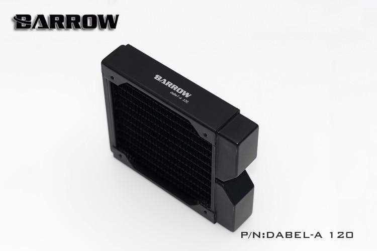 Купить с кэшбэком BARROW 30mm Thickness Copper 120mm Radiator Computer Water Discharge Liquid Heat Exchanger G1/4 Threaded use for 12cm Fans
