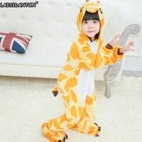 LAISIDANTON Kids Winter Long Sleeves Sleepwear Unicorn Pajamas Animal Hooded Children Adult Pijamas Girls Cute Onesie