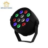 LED Stage Light 12 RGB DMX512 Stage Lighting Effect LED Par Disco Light EU/US Plug Household Use Party DJ Light
