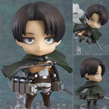 "Free Shipping Cute 4"" Nendoroid Attack on Titan Shingeki no Kyojin Scouting Legion Levi PVC Action Figure Model Collection #390"