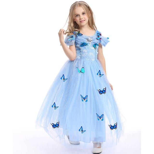 3 13Y Mädchen Brautkleider Disfraz Princesa Kinder Cinderella Mesh ...