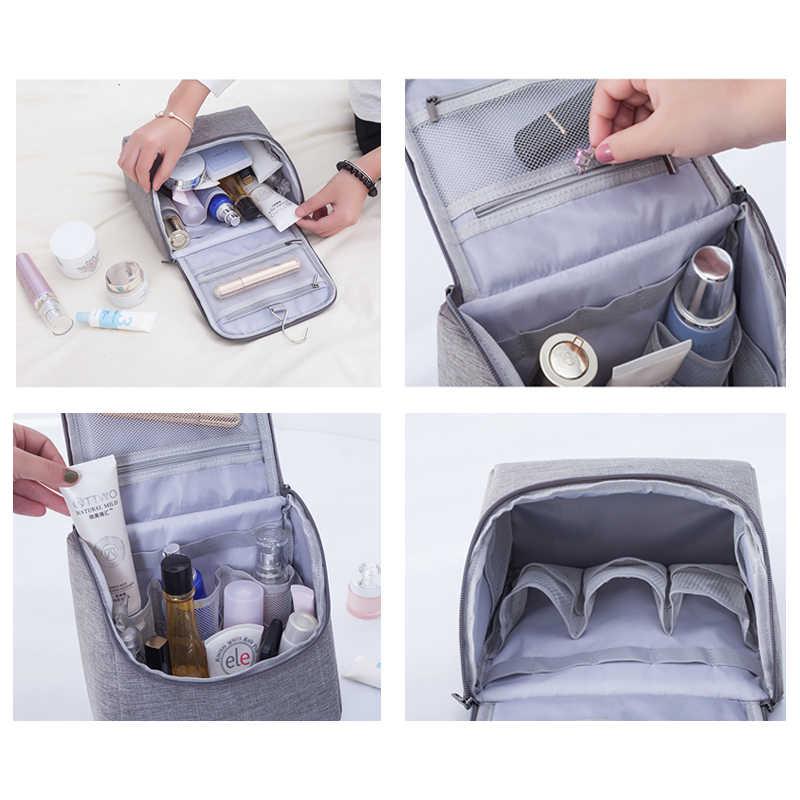 Haken up toiletry tasche frauen Kosmetik taschen reise necessarie organizer tragbare männer make-up fall Kosmetikerin dame make-up Waschen Beutel
