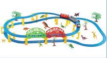 New Hot Ferroviario treno set elettrico trenino elettrico ferroviario auto automobili bambini giocattoli ragazzo del treno animali per bambini regalo a magazzino