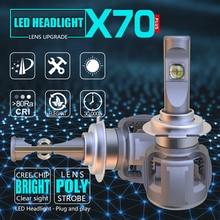 high power 6000k white color 9005 9006 9012 H8 H9 H11 H7 H4 led cr ee